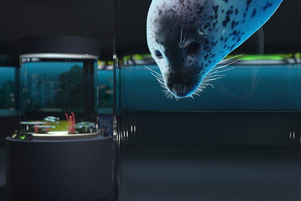 水族館の大型水槽に「高透過アクリルパイプ」を用いた事例 (2)