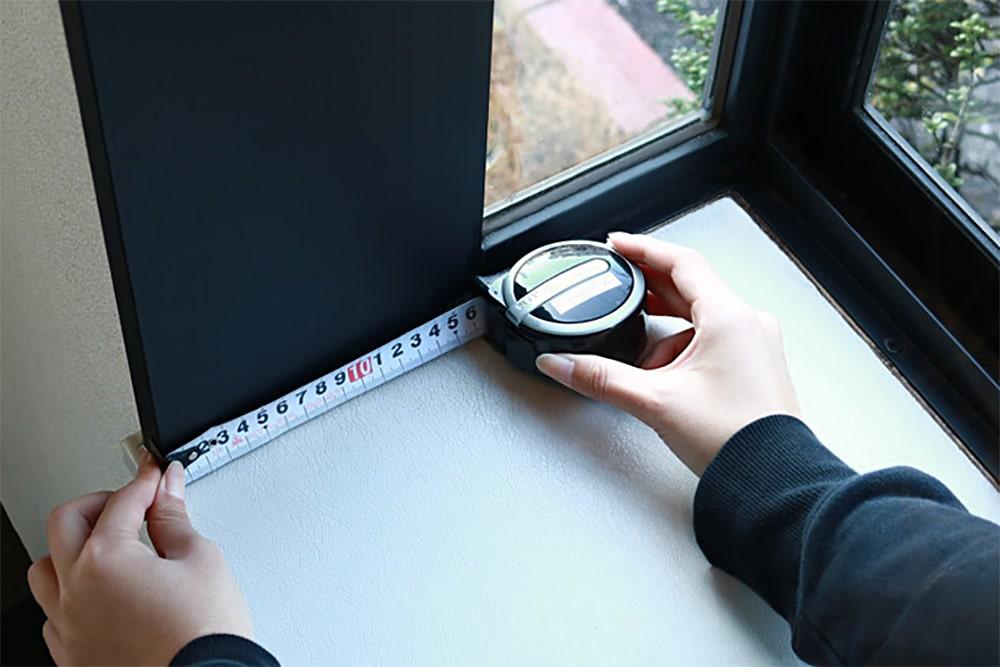 「シネマウィンドウ」の設置 : 取付位置の確認・採寸 (3)
